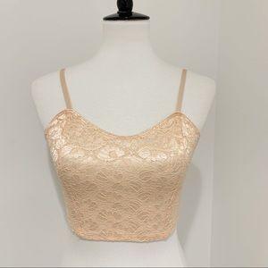 American Apparel Tops - American Apparel lace bralette bustier crop top